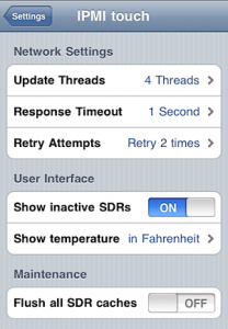 IPMI touch inactive SDR settings